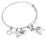 Great Dane Bangle Bracelet