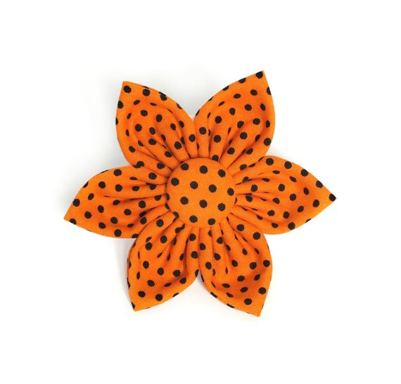 Orange Dots Flower