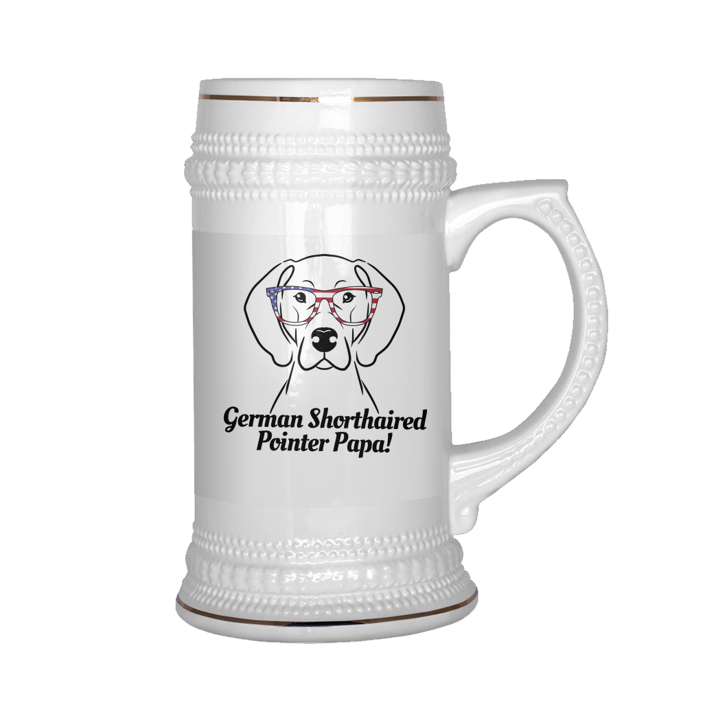 German Shorthaired Pointer Papa! Beer Stein
