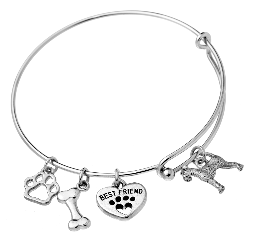 Irish Terrier Bangle Bracelet