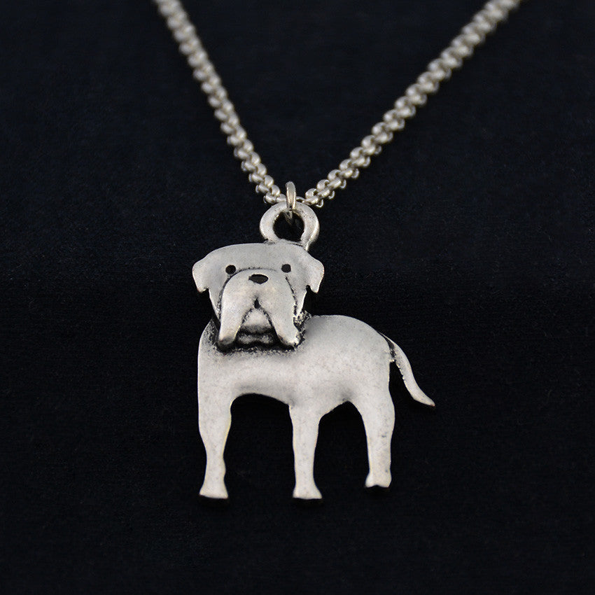 American Bulldog Vintage Necklace