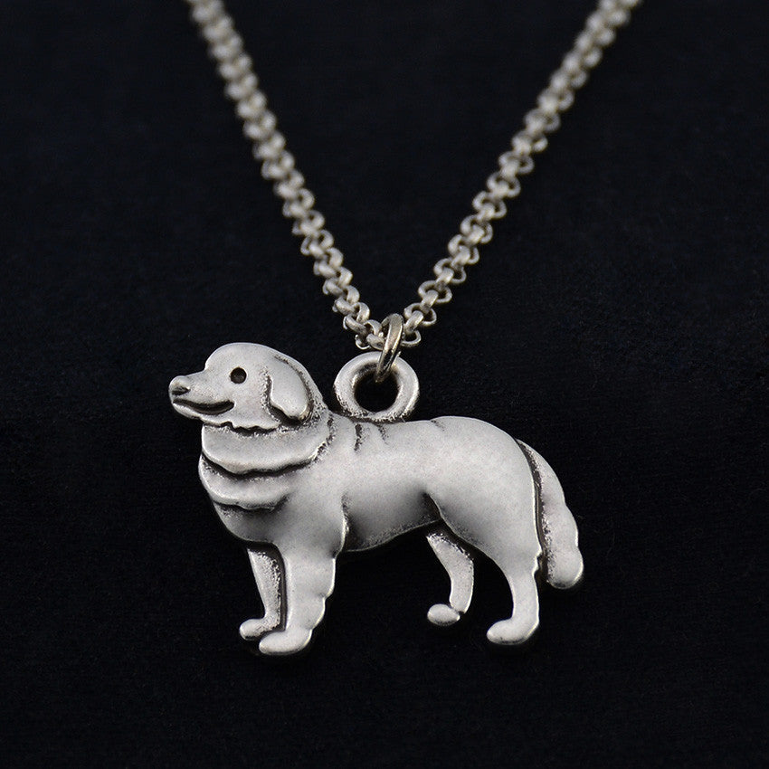 Bernese Mountain Dog Vintage Necklace