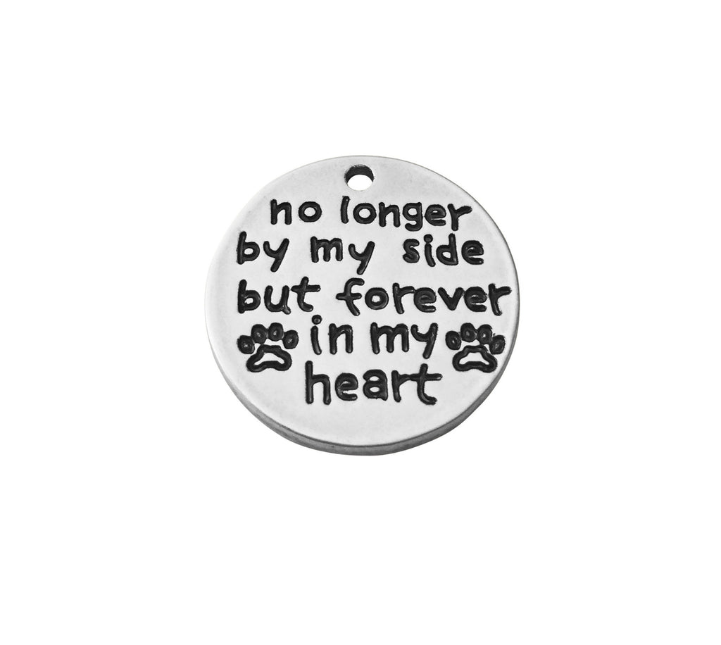 'No Longer By My Side, Forever In My Heart' Charm