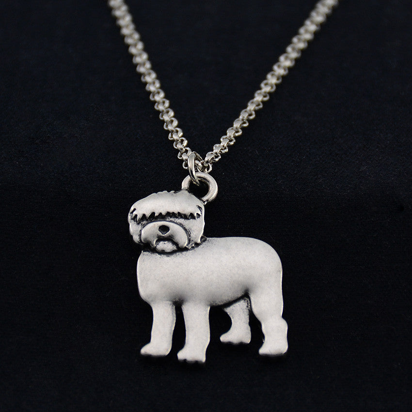 Old English Sheepdog Vintage Necklace
