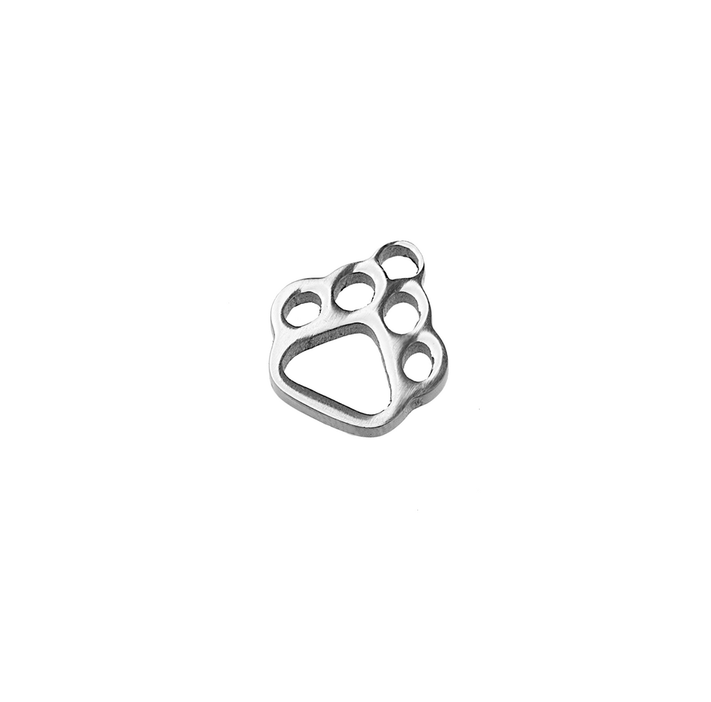 Stainless Steel Dog Paw Charm