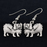 Pekingese Vintage Earrings