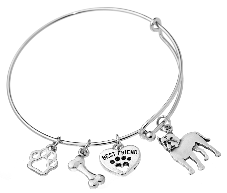 Pit Bull (Cropped Ears) Bangle Bracelet