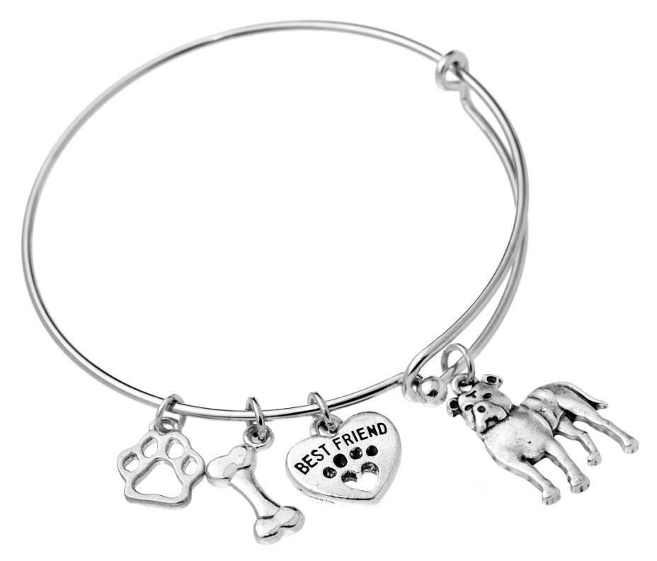 Pit Bull (Natural Ears) Bangle Bracelet