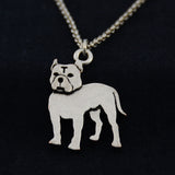 Pit Bull (Cropped Ears) Vintage Necklace