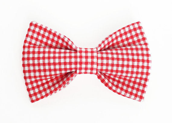 Red Checkered Bow Tie
