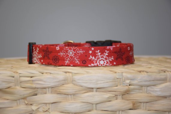 Christmas Red Snowflakes Collar
