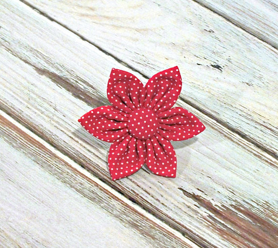 Red Pin Dots Flower
