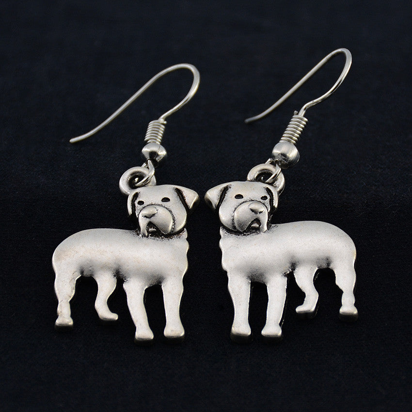 Rottweiler Vintage Earrings