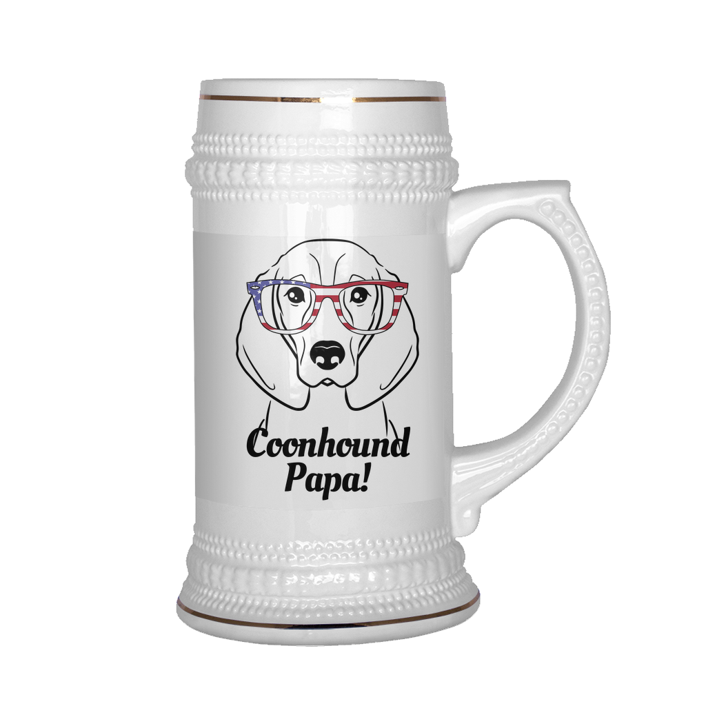 Coonhound Papa! Beer Stein