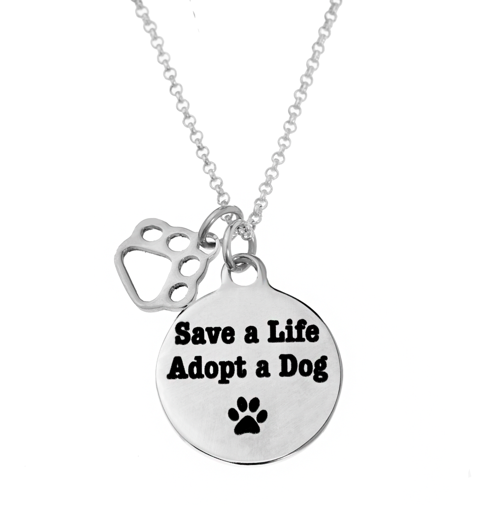 'Save a Life, Adopt a Dog' Necklace