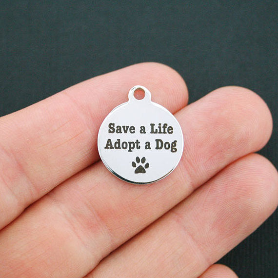 'Save a Life, Adopt a Dog' Charm