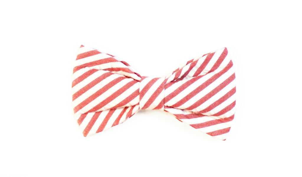 Red Seersucker (Wide) Bow Tie