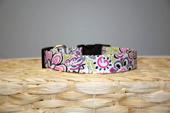 Pink & Gray Summer Swirl Collar