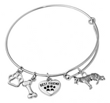 German Shepherd Bangle Bracelet