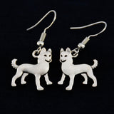 Alaskan Malamute Vintage Earrings