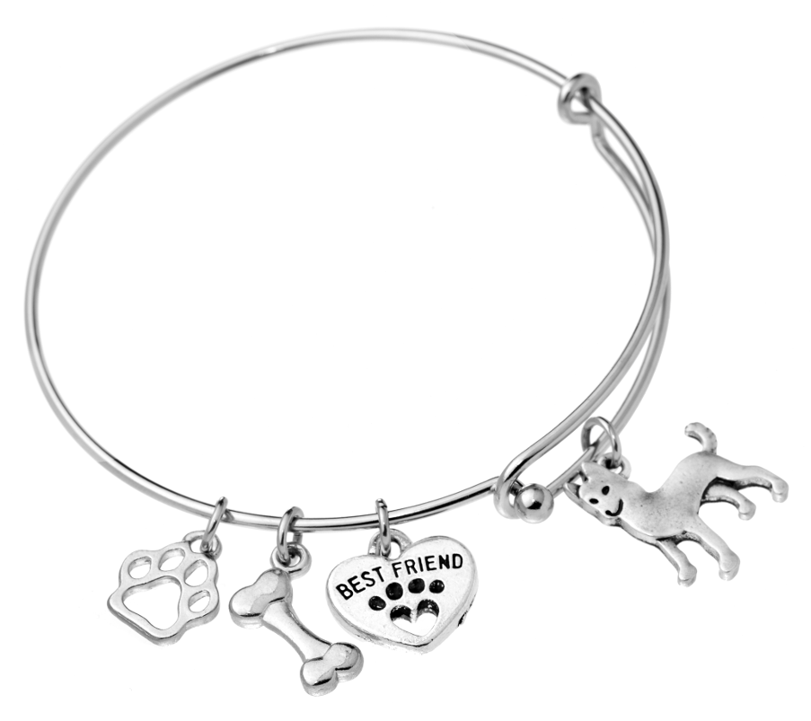Alaskan Malamute Bangle Bracelet