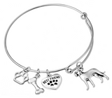 Catahoula Leopard Dog Bangle Bracelet