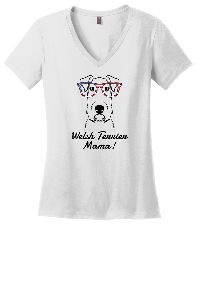 Welsh Terrier Mama Ladies T-Shirt (Shirts Run Small)