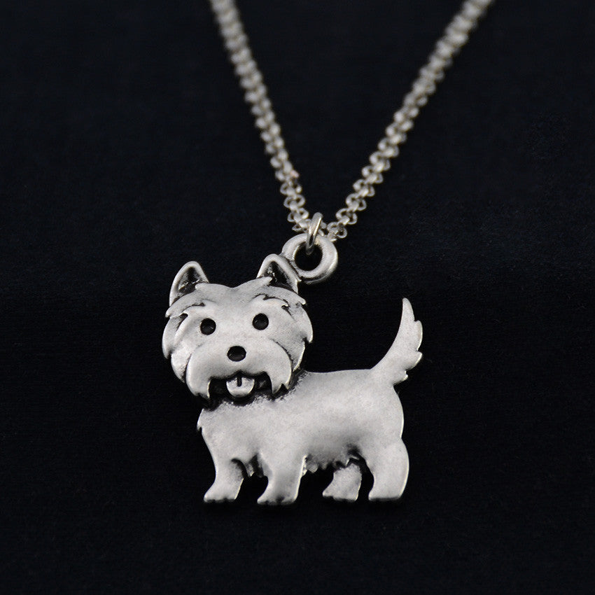 Westie Vintage Necklace
