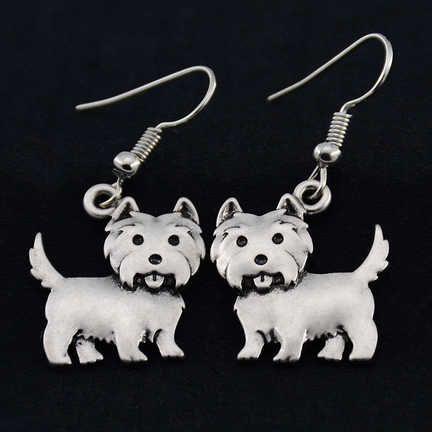 Silky Terrier Vintage Earrings