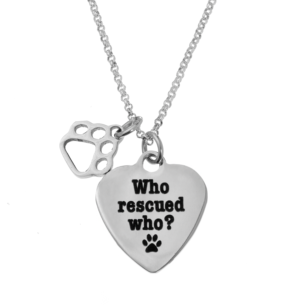 'Who Rescued Who' Necklace