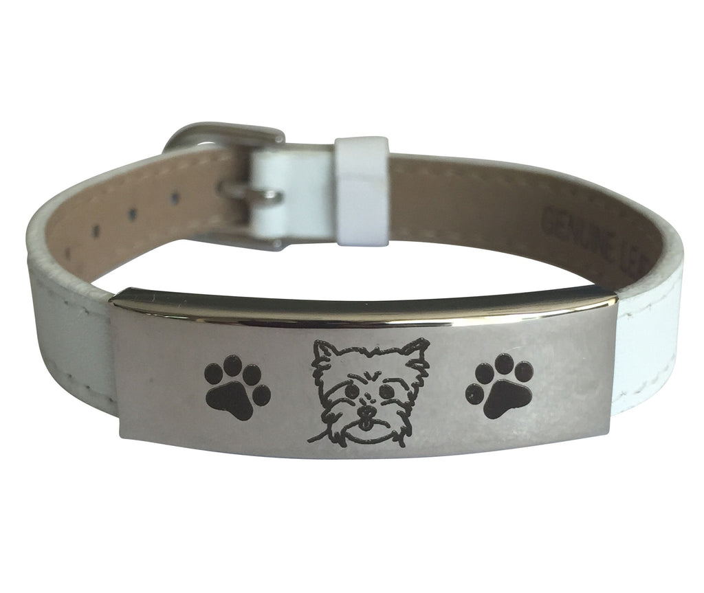 Adjustable Engraved Yorkie Bracelet (50% OFF)
