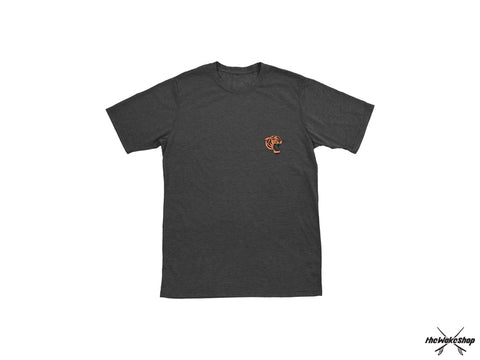 Ronix - Jungle Cat - T-Shirt - Charcoal Heather / Orange - L