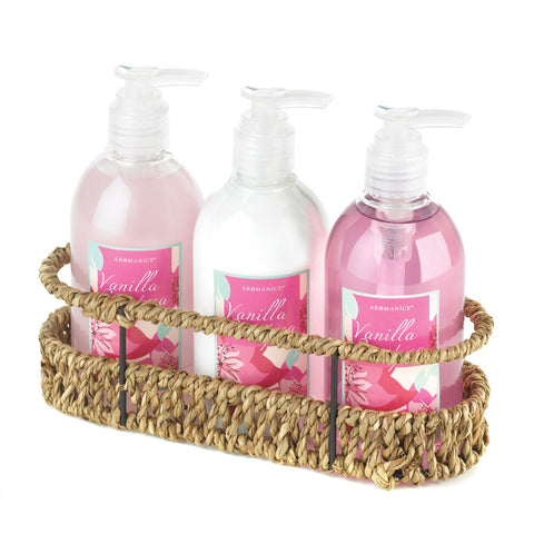 Woven Basket Bath Set Trio