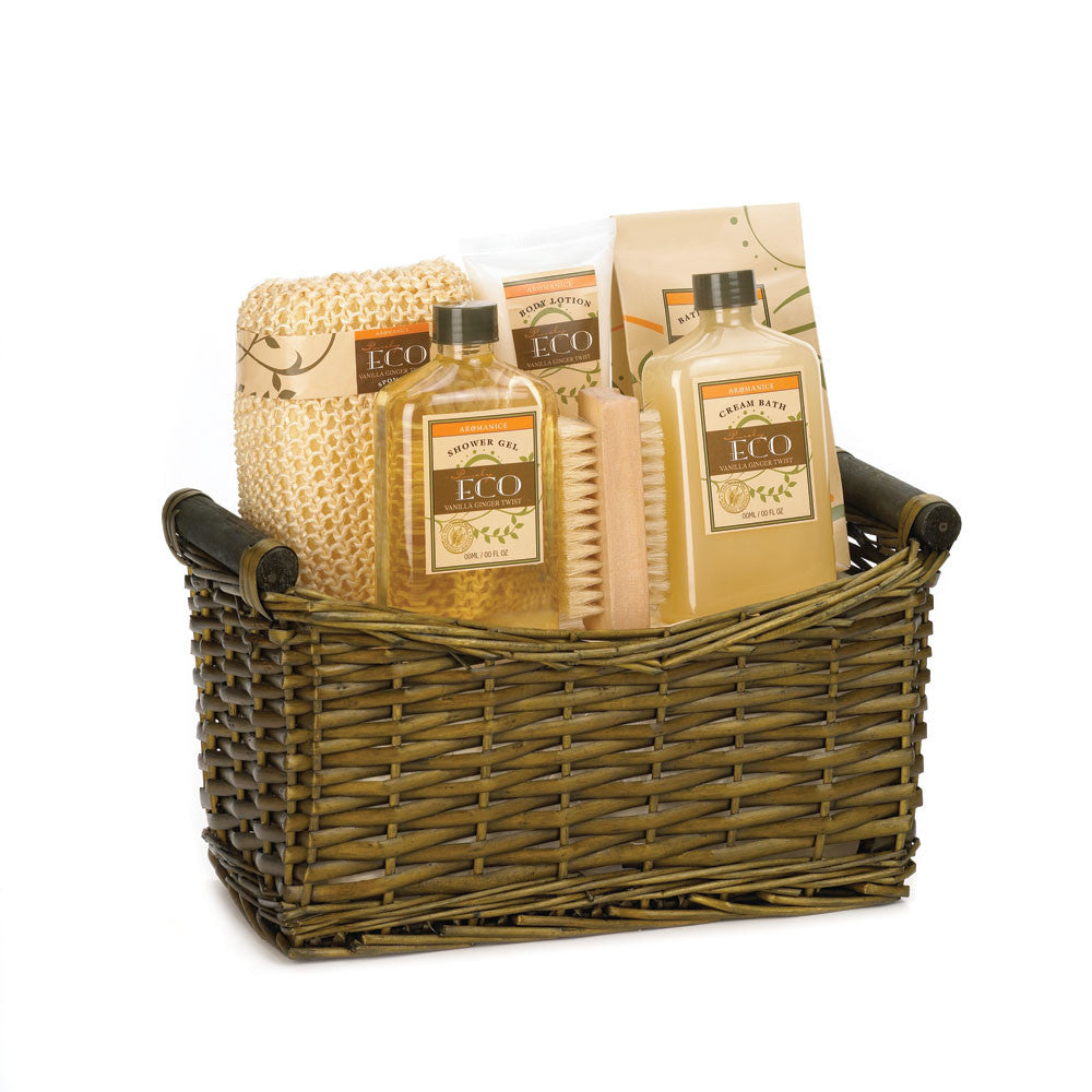 Lavender And Sage Basket Bath Set