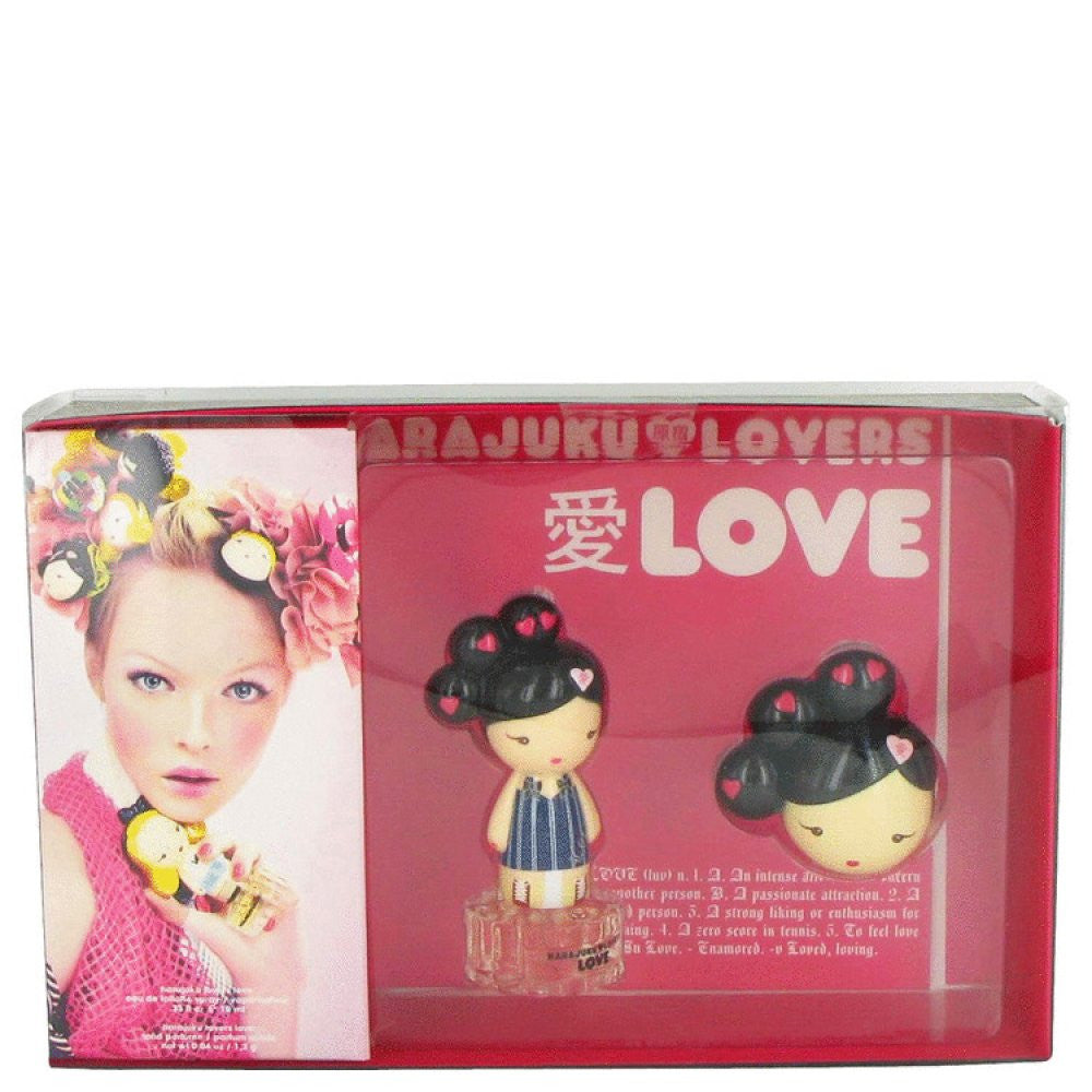 Harajuku Lovers Love By Gwen Stefani Gift Set -- 1 Oz Eau De Toilette Spray + Solid Perfume