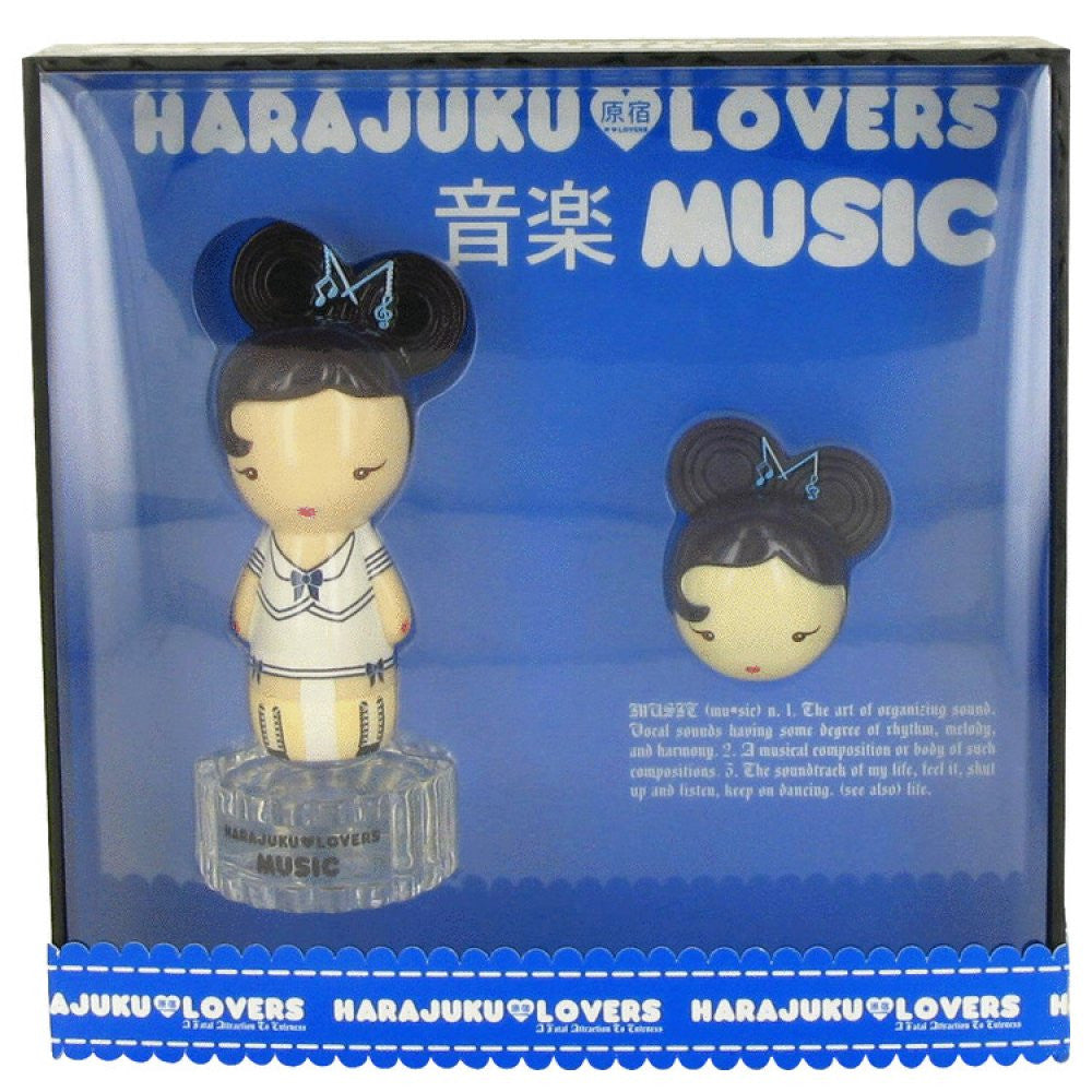 Harajuku Lovers Music By Gwen Stefani Gift Set -- 1 Oz Eau De Toilette Spray + Solid Pefume