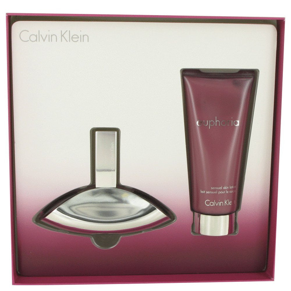 Euphoria By Calvin Klein Gift Set -- 1.7 Oz Eau De Parfum Spray + 3.4 Oz Body Lotion