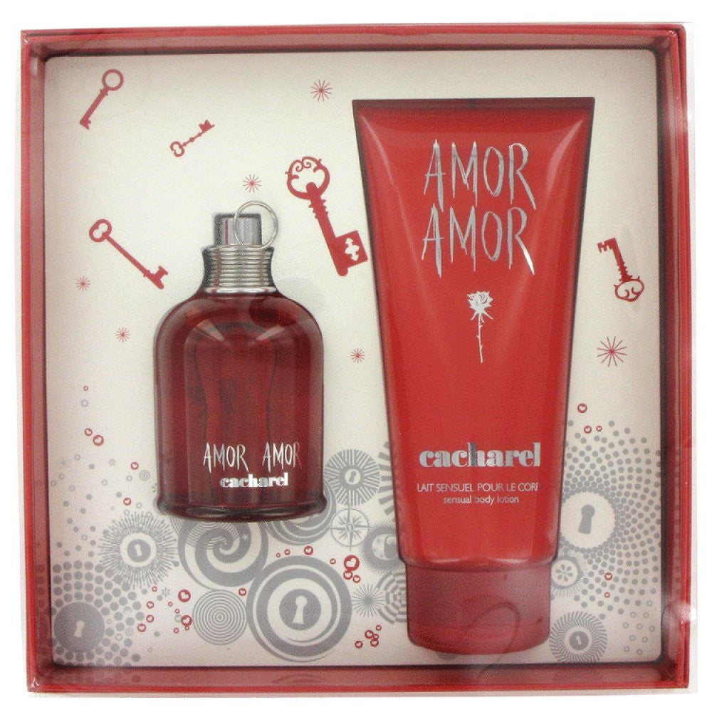 Amor Amor By Cacharel Gift Set -- 3.4 Oz Eau De Toilette Spray + 6.7 Oz Body Lotion