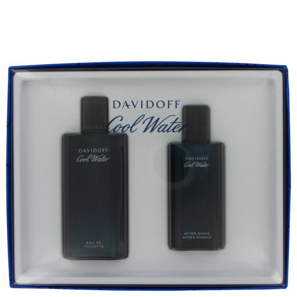 Cool Water By Davidoff Gift Set -- 4.2 Oz Eau De Toilette Spray + 2.5 Oz After Shave Splash