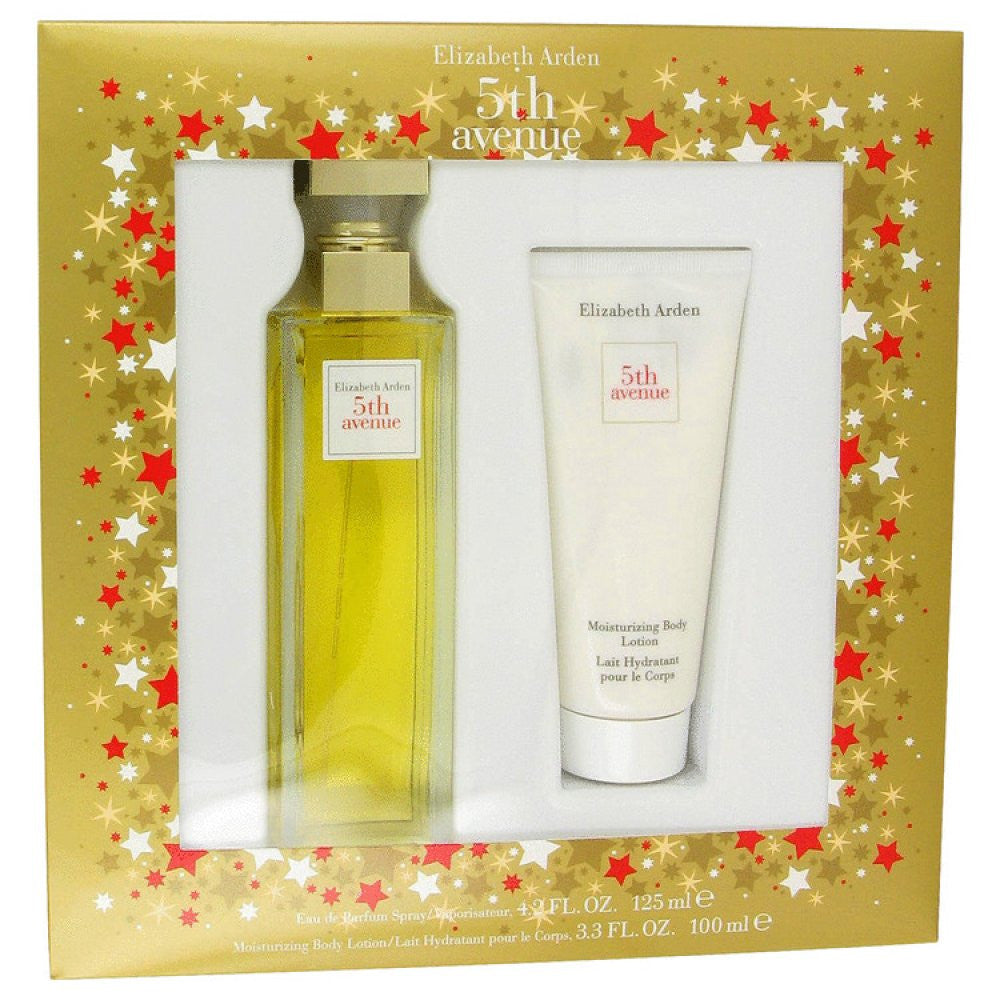 5th Avenue By Elizabeth Arden Gift Set -- 4.2 Oz Eau De Parfum Spray + 3.3 Oz Body Lotion