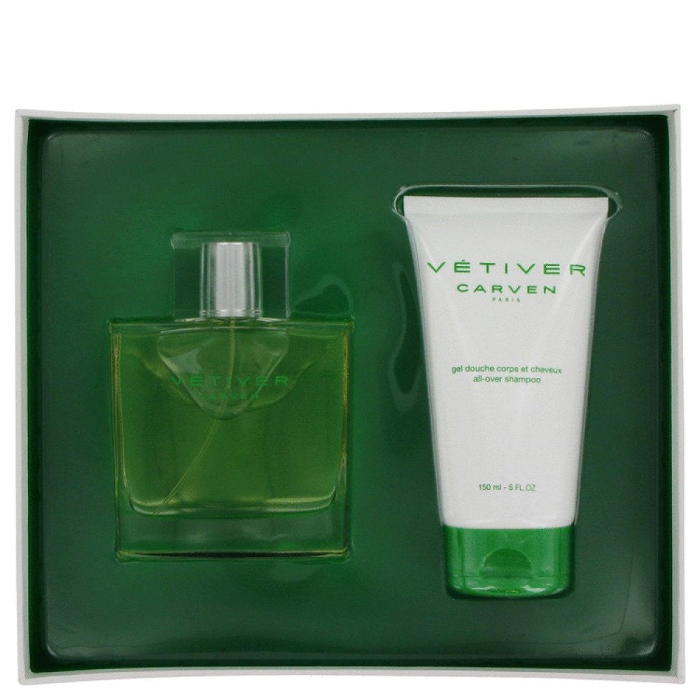 Vetiver Carven By Carven Gift Set -- 3 Oz Eau De Toilette Spray + 5 Oz All-over Shampoo