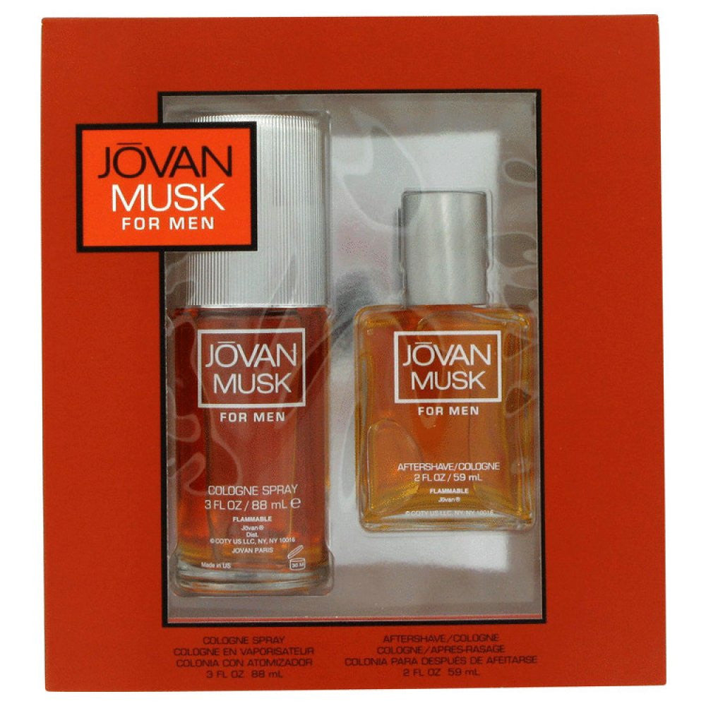 Jovan Musk By Jovan Gift Set -- 2 Oz Cologne Spray + 2 Oz After Shave/ Cologne