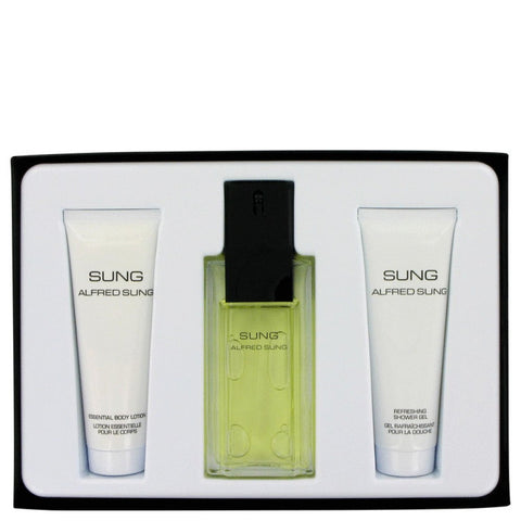 Alfred Sung By Alfred Sung Gift Set -- 3.4 Oz Eau De Toilette Spray + 2.5 Oz Body Lotion + 2.5 Oz Shower Gel