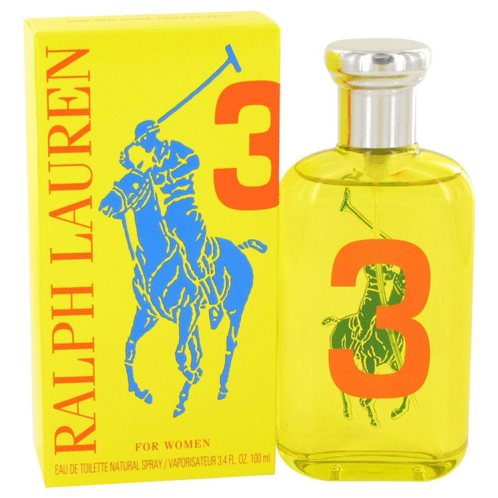 Big Pony Yellow 3 By Ralph Lauren Eau De Toilette Spray 3.4 Oz