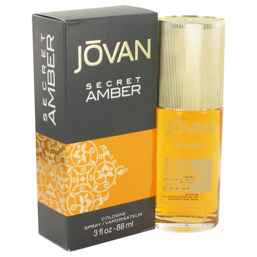 Jovan Secret Amber By Jovan Cologne Spray 3 Oz
