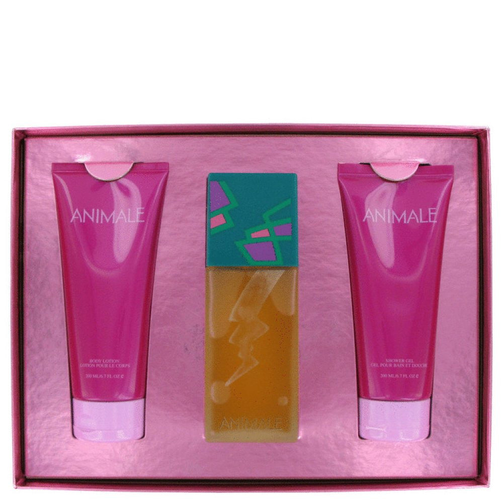 Animale By Animale Gift Set -- 3.4 Oz Eau De Parfum Spray + 6.7 Oz Body Lotion + 6.7 Oz Body Gel