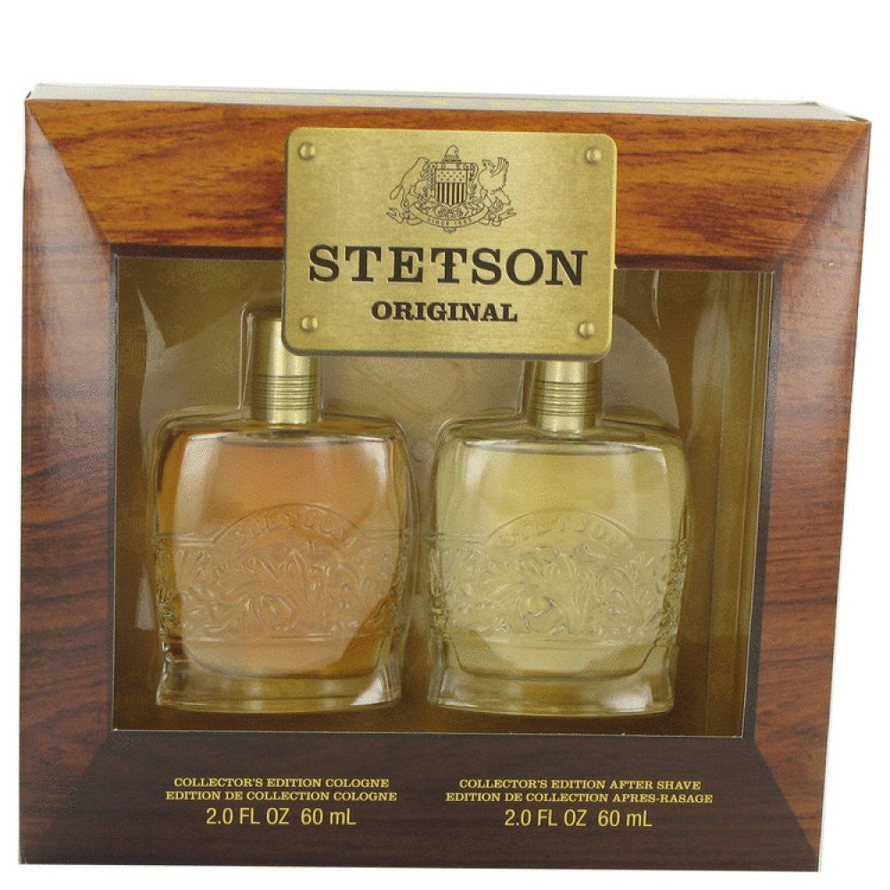 Stetson By Coty Gift Set -- 2 Oz Cologne + 2 Oz Aftershave Decanters