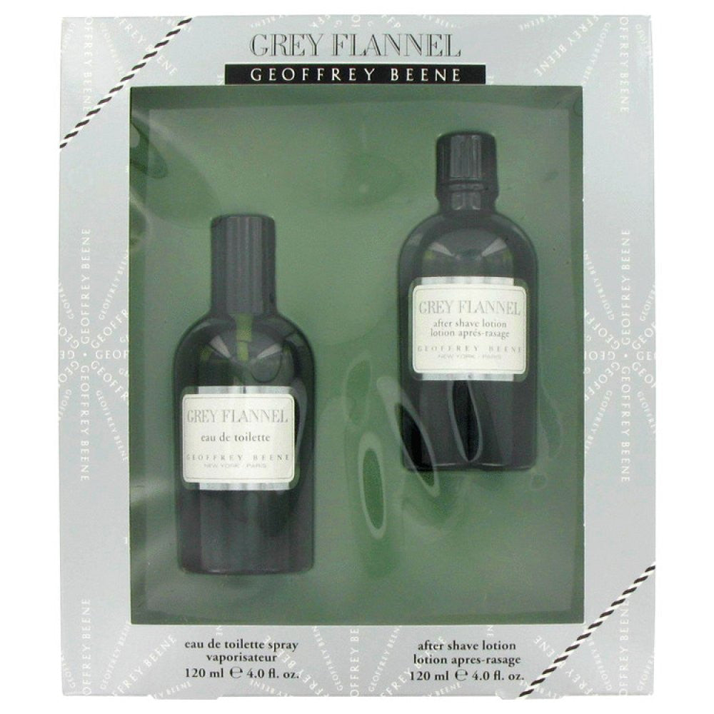Grey Flannel By Geoffrey Beene Gift Set -- 4 Oz Eau De Toilette Spray + 4 Oz After Shave