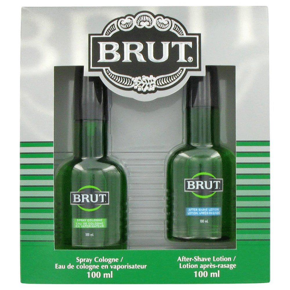 Brut By Faberge Gift Set -- 3.4 Oz Cologne Spray + 3.4 Oz After Shave Lotion