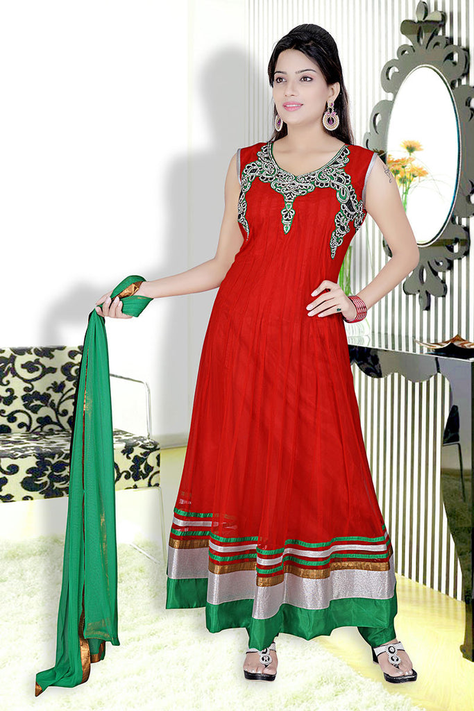 Women Anarkali Suit RM-F-132-Red
